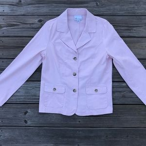 The Tog Shop Women Jacket Blazer Pink Coat Size M